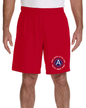 3rd Army  Embroidered Gym Shorts