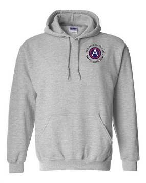 3rd Army Embroidered Hooded Sweatshirt