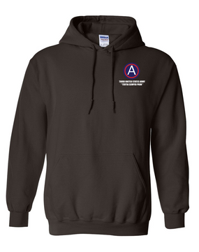 3rd Army Embroidered Hooded Sweatshirt (L)