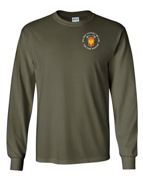 18th Field Artillery (Airborne) Long-Sleeve Cotton T-Shirt (C)