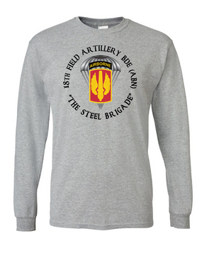 18th Field Artillery (Airborne) Long-Sleeve Cotton T-Shirt (C)(FF)