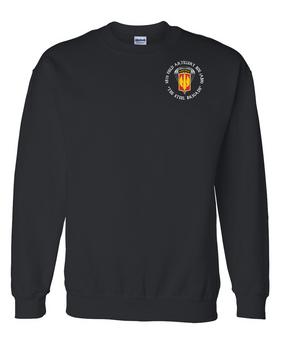 18th Field Artillery (Airborne) Embroidered Sweatshirt  (C)