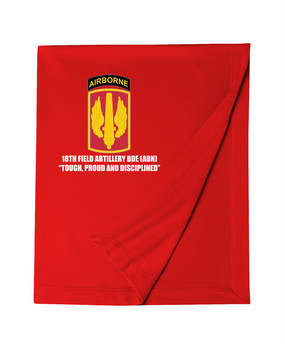 18th Field Artillery (Airborne) Embroidered Dryblend Stadium Blanket