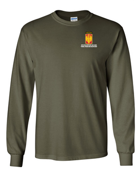 18th Field Artillery (Airborne) Long-Sleeve Cotton T-Shirt