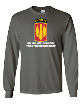 18th Field Artillery (Airborne) Long-Sleeve Cotton T-Shirt (FF)