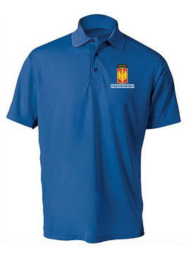 18th Field Artillery (Airborne) Embroidered Moisture Wick Polo Shirt