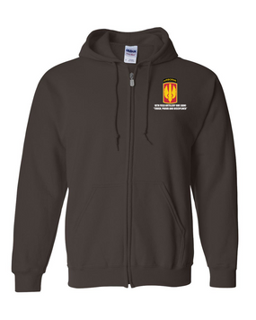 18th Field Artillery (Airborne) Embroidered Hooded Sweatshirt with Zipper
