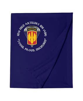 18th Field Artillery (Airborne) Embroidered Dryblend Stadium Blanket  (PRD)