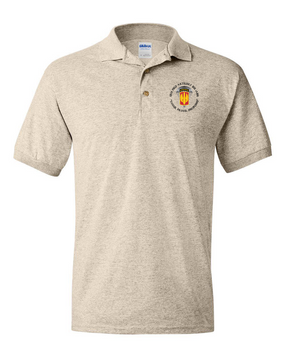 18th Field Artillery (Airborne) Embroidered Cotton Polo Shirt (PRD)