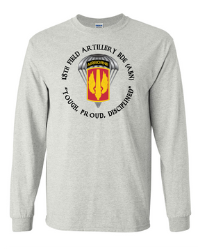 18th Field Artillery (Airborne) Long-Sleeve Cotton T-Shirt (PRD)(FF)