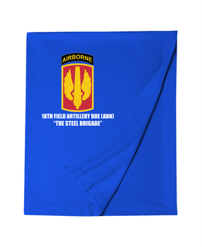 18th Field Artillery (Airborne) Embroidered Dryblend Stadium Blanket  (Steel)