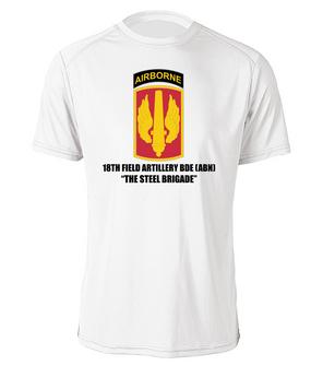 18th Field Artillery (Airborne) Cotton Shirt  (STEEL)(FF)