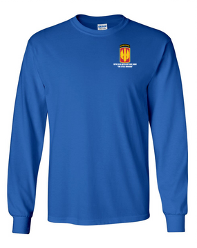18th Field Artillery (Airborne) Long-Sleeve Cotton T-Shirt (STEEL)