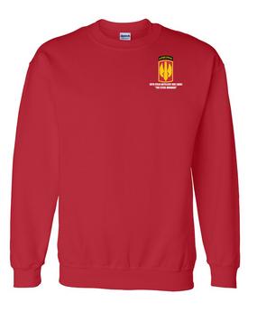 18th Field Artillery (Airborne) Embroidered Sweatshirt  (STEEL)