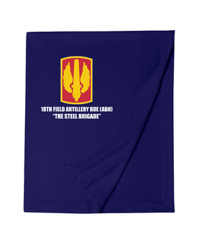18th Field Artillery Embroidered Dryblend Stadium Blanket  (Steel)