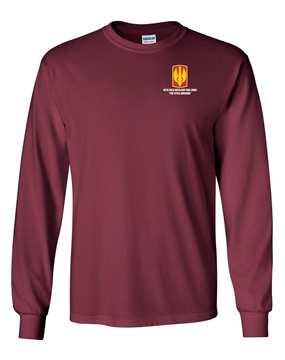 18th Field Artillery Long-Sleeve Cotton T-Shirt (STEEL)