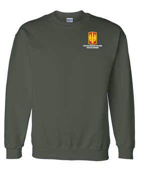 18th Field Artillery Embroidered Sweatshirt  (STEEL)