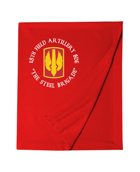 18th Field Artillery Embroidered Dryblend Stadium Blanket  (Steel)(C)