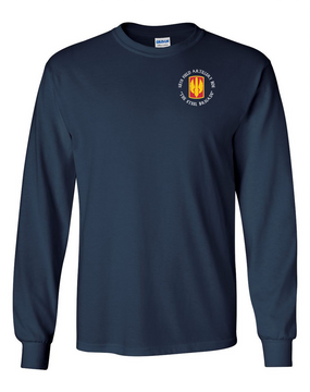 18th Field Artillery Long-Sleeve Cotton T-Shirt (STEEL)(C)
