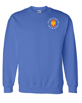 18th Field Artillery Embroidered Sweatshirt  (STEEL)(C)