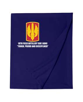 18th Field Artillery Embroidered Dryblend Stadium Blanket  (TOUGH)