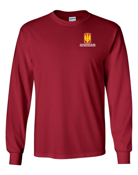 18th Field Artillery Long-Sleeve Cotton T-Shirt (TOUGH)