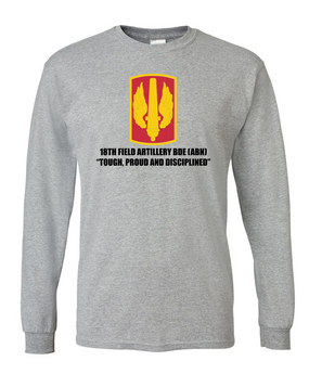 18th Field Artillery Long-Sleeve Cotton T-Shirt (TOUGH)(FF)