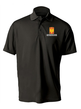 18th Field Artillery Embroidered Moisture Wick Polo Shirt (TOUGH)