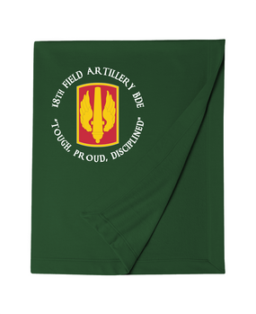18th Field Artillery Embroidered Dryblend Stadium Blanket  (TOUGH)(C)