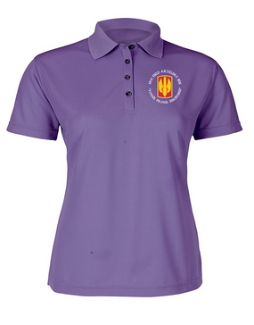 18th Field Artillery Ladies Embroidered Moisture Wick Polo Shirt  (TOUGH)(C)