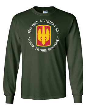 18th Field Artillery Long-Sleeve Cotton T-Shirt (TOUGH)(C)(FF)