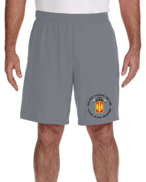 18th Field Artillery (Airborne) Embroidered Gym Shorts (PROUD)