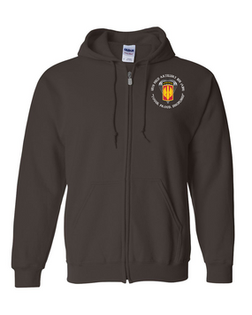 18th Field Artillery (Airborne) Embroidered Hooded Sweatshirt with Zipper  (PROUD)