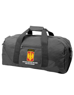 18th Field Artillery (Airborne) Embroidered Duffel Bag (STEEL)