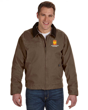 18th Field Artillery Embroidered DRI-DUCK Outlaw Jacket (STEEL)