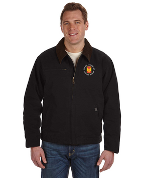 18th Field Artillery Embroidered DRI-DUCK Outlaw Jacket (STEEL)(C)