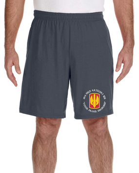 18th Field Artillery Embroidered Gym Shorts (TOUGH)(C)
