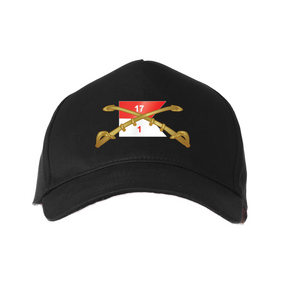 "1st Squadron 17th Cavalry Regiment ""Crest""  Embroidered Baseball Cap"