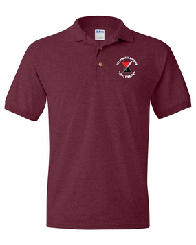 "7th Infantry Division ""Bayonet""  Embroidered Cotton Polo Shirt (C)"
