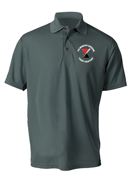"7th Infantry Division ""Bayonet""  Embroidered Moisture Wick Polo Shirt (C)"