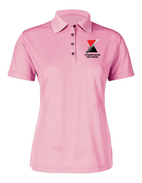 "7th Infantry Division ""Bayonet"" Ladies Embroidered Moisture Wick Polo Shirt"
