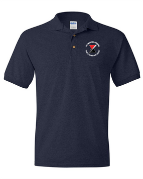 "7th Infantry Division ""Deadly""  Embroidered Cotton Polo Shirt (C)"