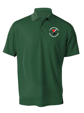 "7th Infantry Division ""Deadly""  Embroidered Moisture Wick Polo Shirt (C)"