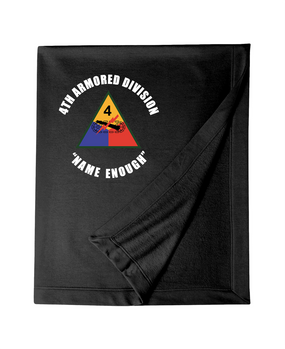 4th Armored Division Embroidered Dryblend Stadium Blanket  (C)