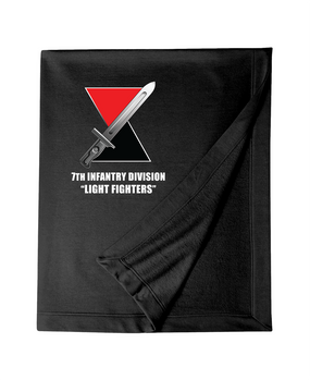 7th Infantry Division Embroidered Dryblend Stadium Blanket  (L)