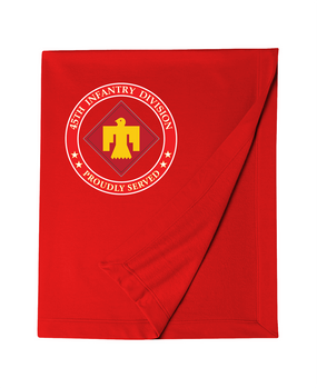 45th Infantry Division Embroidered Dryblend Stadium Blanket  (PROUD)