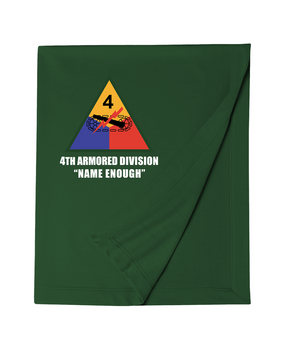 4th Armored Division Embroidered Dryblend Stadium Blanket  (L)