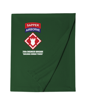 "20th Engineer (Airborne)  ""Sapper"" Embroidered Dryblend Stadium Blanket"