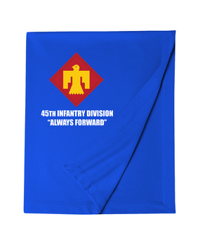 45th Infantry Division Embroidered Dryblend Stadium Blanket  (L)