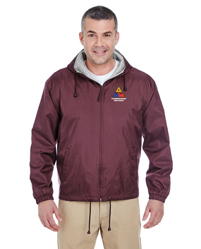 4th Armored Division Embroidered Fleece-Lined Hooded Jacket
